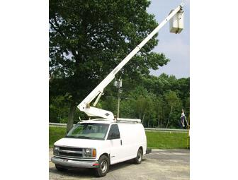 Three hours of bucket truck service