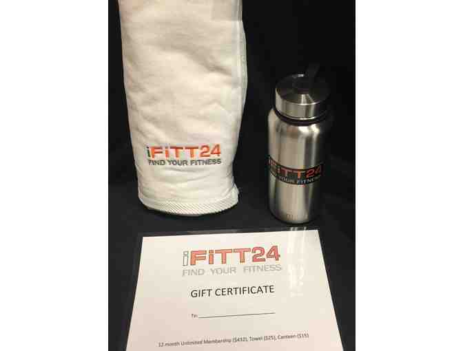 12 Months of Unlimited Membership + swag from iFITT24