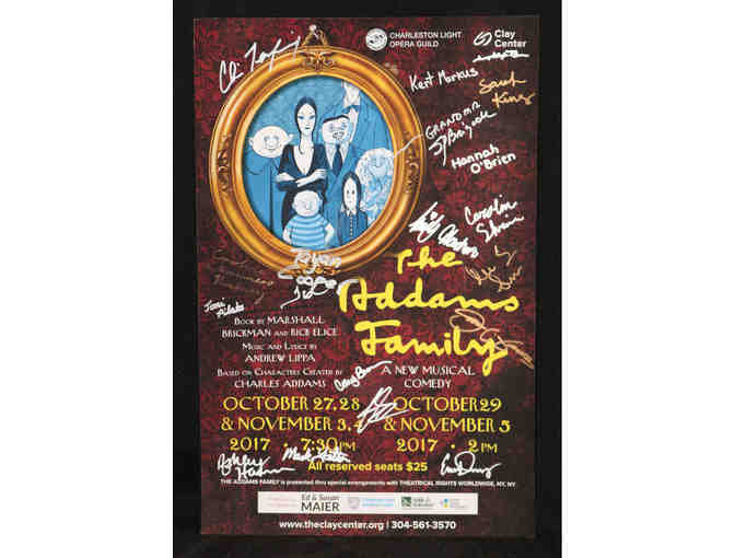 The Addams Family, signed poster from CLOG cast