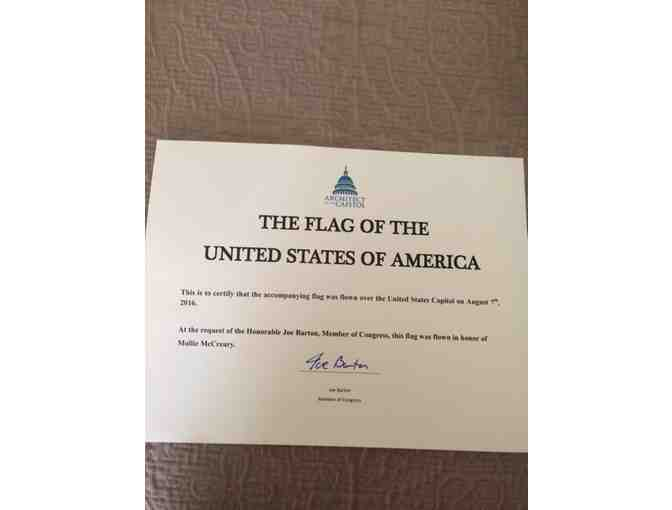 U.S. Flag Flown Over the United States Capitol on July 4th, 2017 with Signed Certificate!