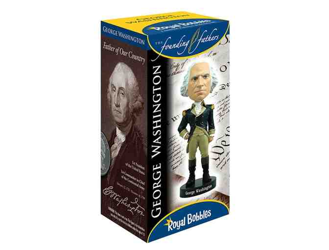 Collector's Edition of George Washington Bobblehead! Janine Autographs Box!