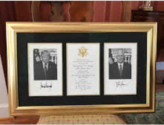 Custom Framed President Donald J. Trump Invitation to Inaugural!  Collectible!