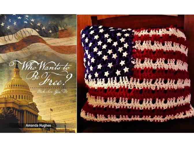 Beautiful Handmade Baby Girl Blanket by Constituting America's Amanda Hughes!