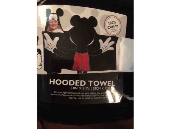 Mickey Mouse Hooded Towel for Kids!  Pure Summer Fun!