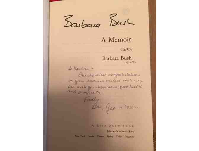 'Barbara Bush: A Memoir' - Autographed by Barbara Bush,  Hardback 1994!