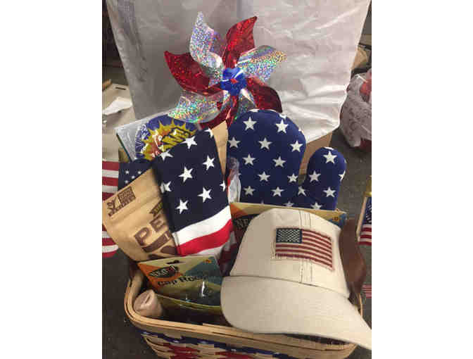'Wear & Wave the Flag' - 'Celebrate Summer Patriotic Gift Basket'!