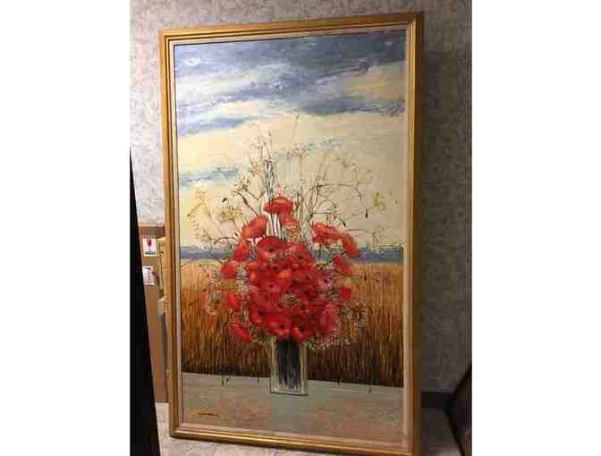 "Original, Signed Oil Painting by Michel Henry  - ""Pavots D'ete"" - World Renowned Artist! - Photo 1"