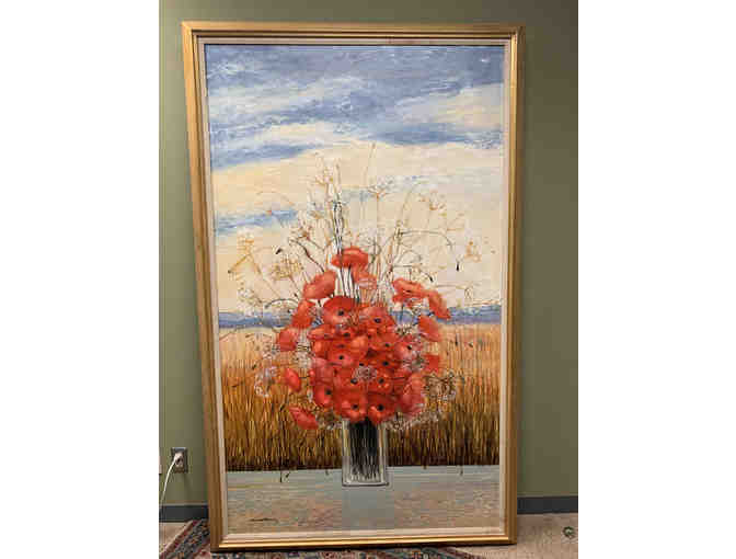 "Original, Signed Oil Painting by Michel Henry  - ""Pavots D'ete"" - World Renowned Artist! - Photo 9"