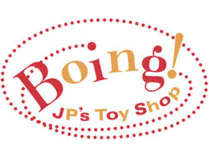 Boing Toy Store $25 Gift Card and plastic waterbottle