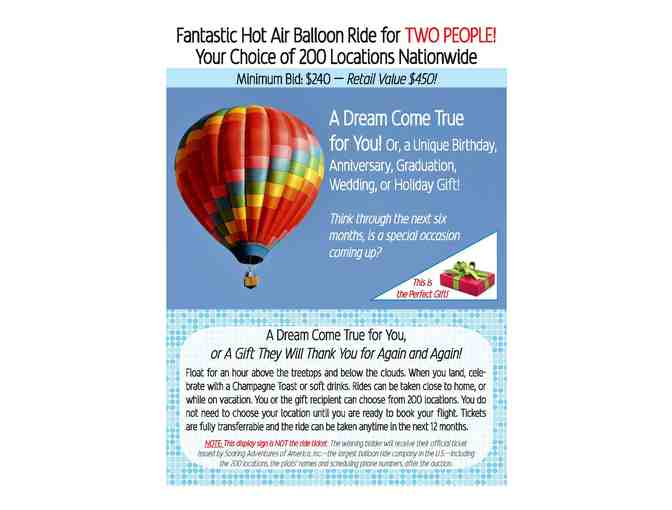 Entertainment | Hot Air Balloon Ride for Two! - Photo 1