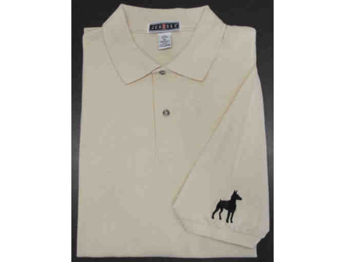 Embroidered Doberman Polo Shirt, Size L