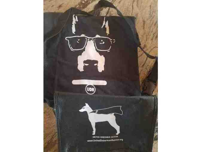 Cool Doberman T-shirt and Treat bag