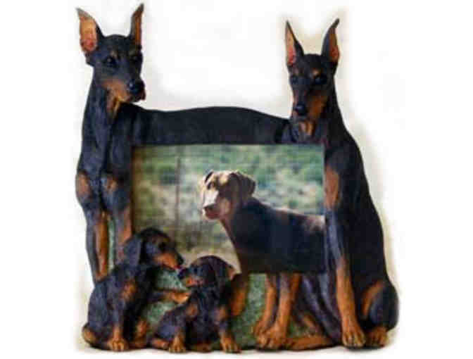 Family Of Four Darling Doberman Frame + Bonus