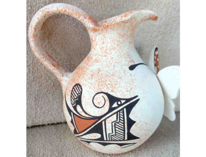 Beautiful Handmade Zuni Clay Butterfly Pot