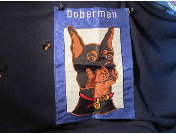 Doberman Garden Flag