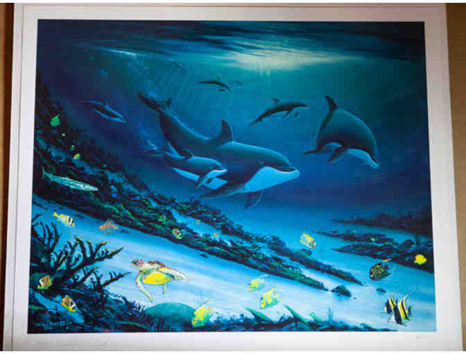 Celebrating The Sea - Signed and # Limited Edition Lithograph by Renowned Artist Wyland - Photo 1