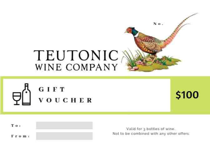 $100 Teutonic Wine Company Gift Certificate