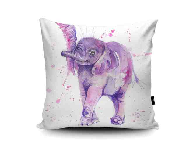 Baby Elephant Vegan-Suede Cushion