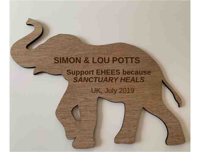 Personalized Elephant Haven Wooden Plaque - LIMITED EDITION