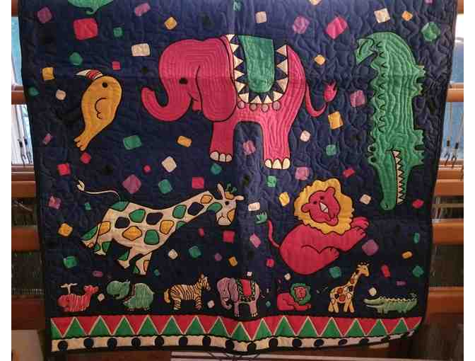 Jungle Animal Babies Quilt or Wall Hanging
