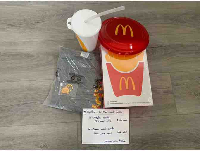 McDonald's- Basket of Fun #1 + CARDS for 12 Extra Value Meals & 10 McCafe's! - Photo 1