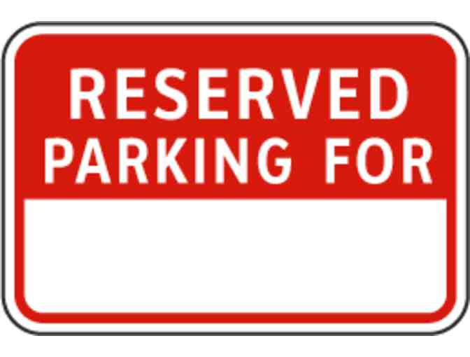 Reserved Campus Parking Spot for One Year
