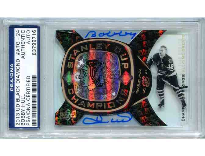 Bobby Hull Chicago Blackhawks PSA/DNA Certified Authentic Autograph - 2013 Upper Deck Blac