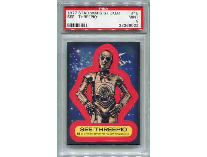 1977 Star Wars Sticker - See-Threepio #15 PSA 9 MINT