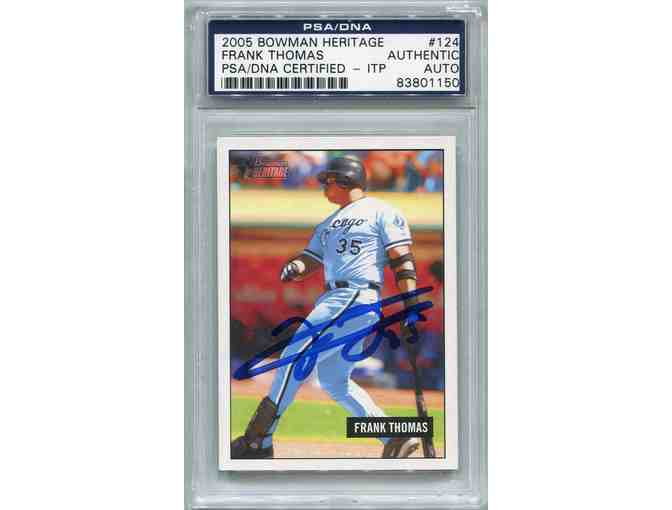 Frank Thomas Chicago White Sox PSA/DNA Certified Authentic In-The-Presence (ITP) Autograph