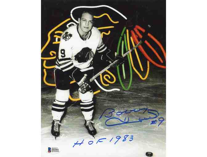 Bobby Hull Chicago Blackhawks Beckett (BAS) Certified Authentic Autographed 8x10 Photo