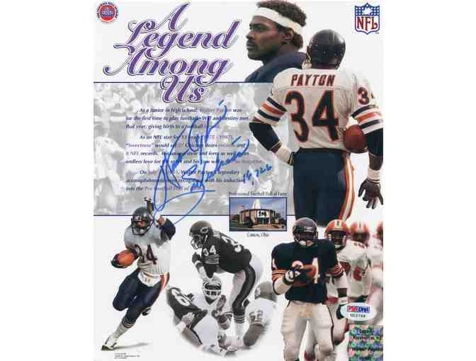 Walter Payton Chicago Bears PSA/DNA Certified Authentic Autographed 8x10 Photo