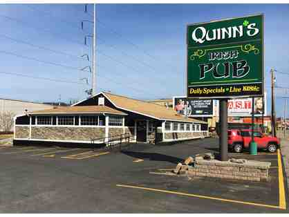 QUINN'S IRISH PUB $25. GIFT CARD