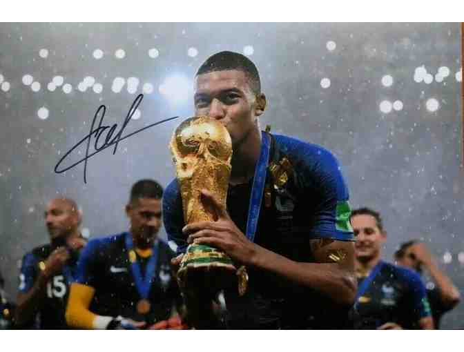 Kylian Mbappe World Cup France Autographed Photo
