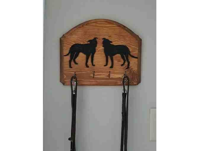 Custom Wood Leash Hanger