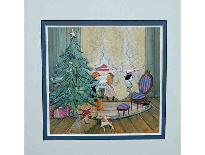P Buckley Moss Christmas Print