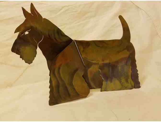 Copper cut design of Scottish Terrier