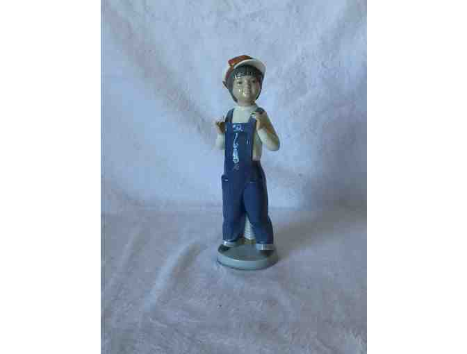 Vintage Lladro 'BOY FROM MADRID' with Accordian, autographed
