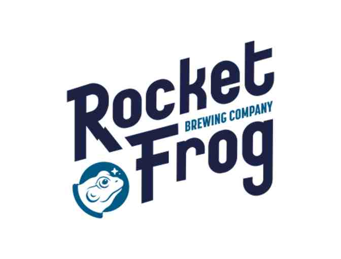 Tastings, tour, and logo items from Rocket Frog Brewing Company.