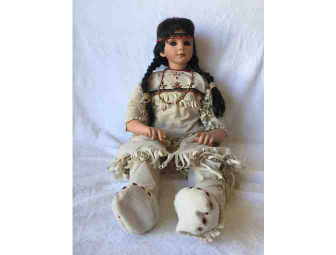 Native American Porcelain Doll