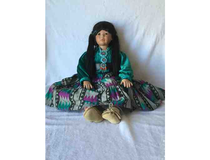 Handmade Porcelain Native American Doll