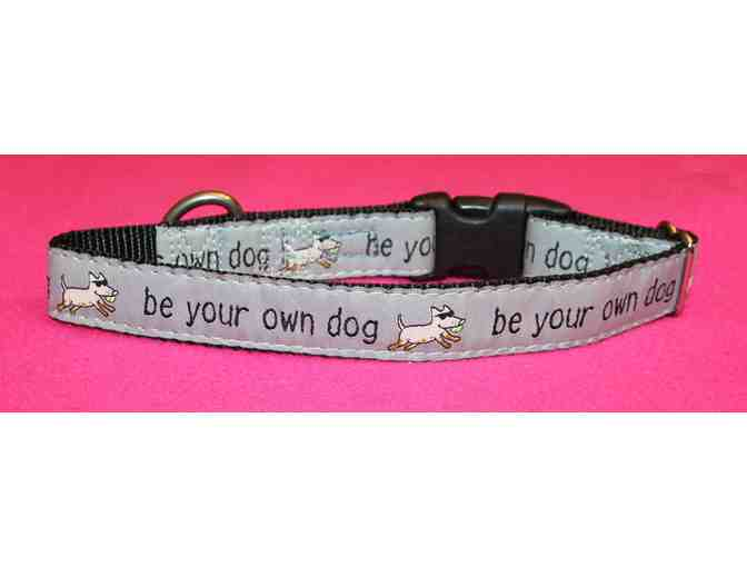 Teddy The Dog -Be Your Own Dog collar - gray