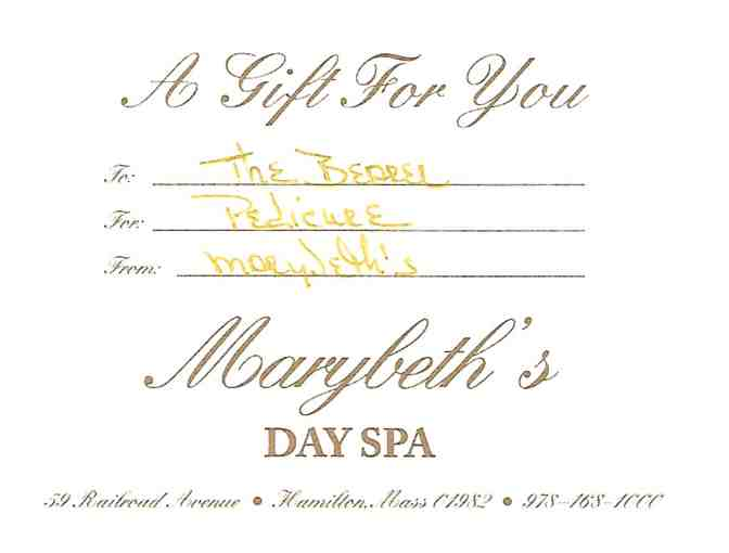 Personalized Pedicure at Marybeth's Day Spa