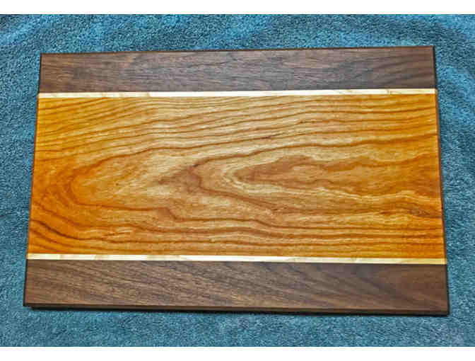 Serving Board - Cherry & Black Walnut  with Maple Accent
