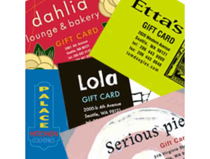 Tom Douglas Restaurants $100 worth of Gift Cards (two $50)