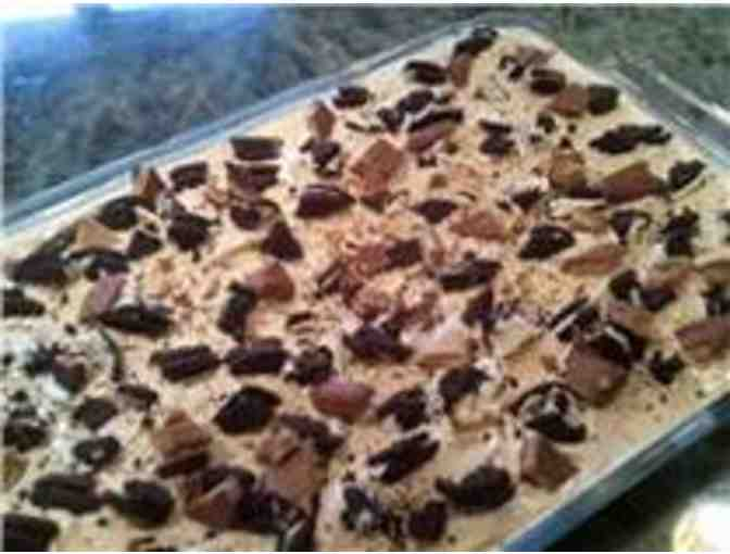 Homemade Mud Pie with Serving Dish