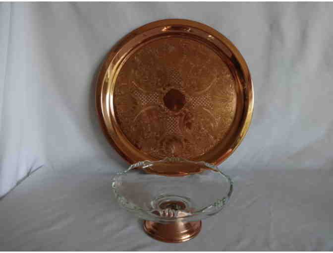 Copper Tray and Dish