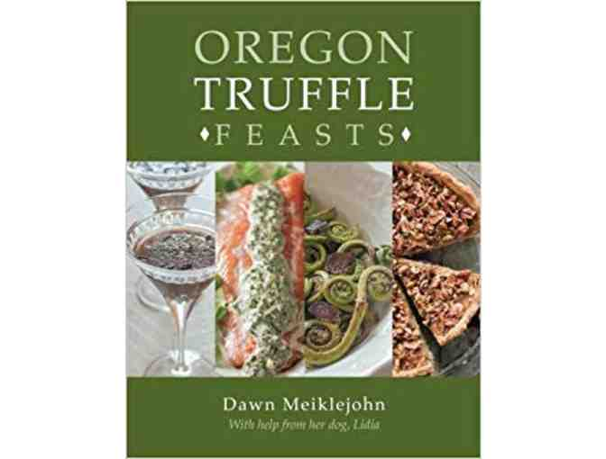 Oregon Truffle Cookbook and Truffle Oil bottles