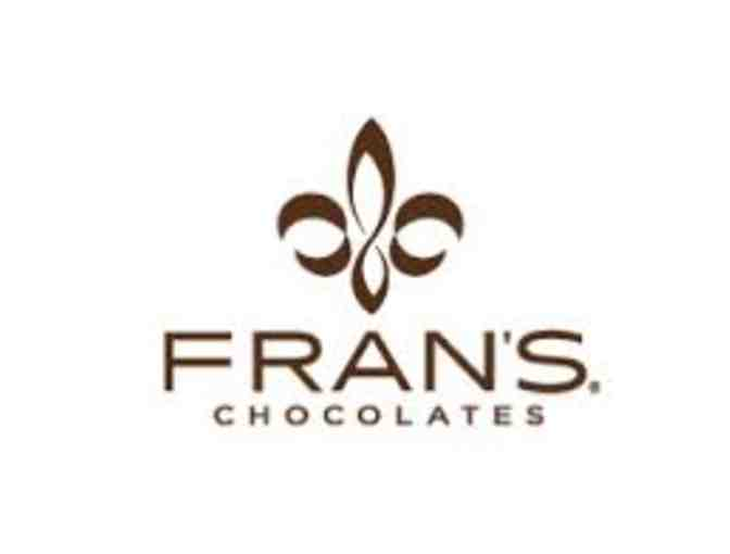 Fran's Chocolate- $22 gift card