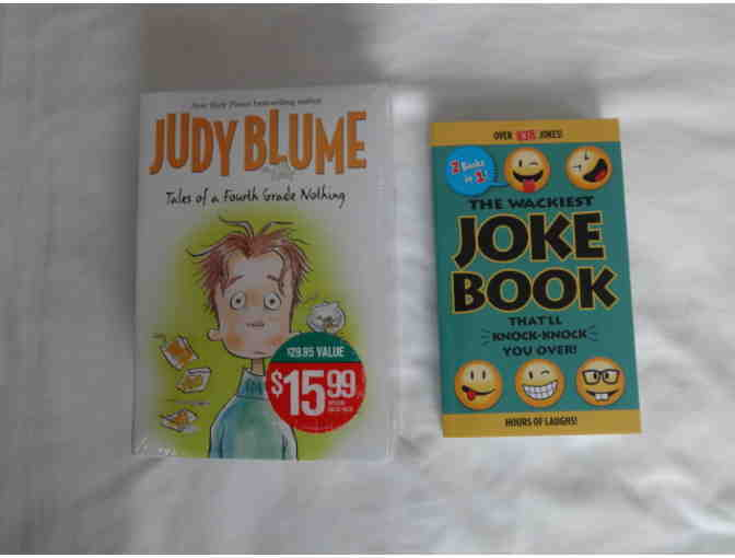 Five Book Set- 'Tales of a Fourth Grade Nothing' and a Joke Book