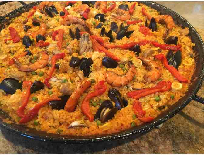 A Paella Dinner for 16 Delivered to Your Home!